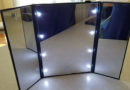 Tri-fold Illuminated Makeup Mirror